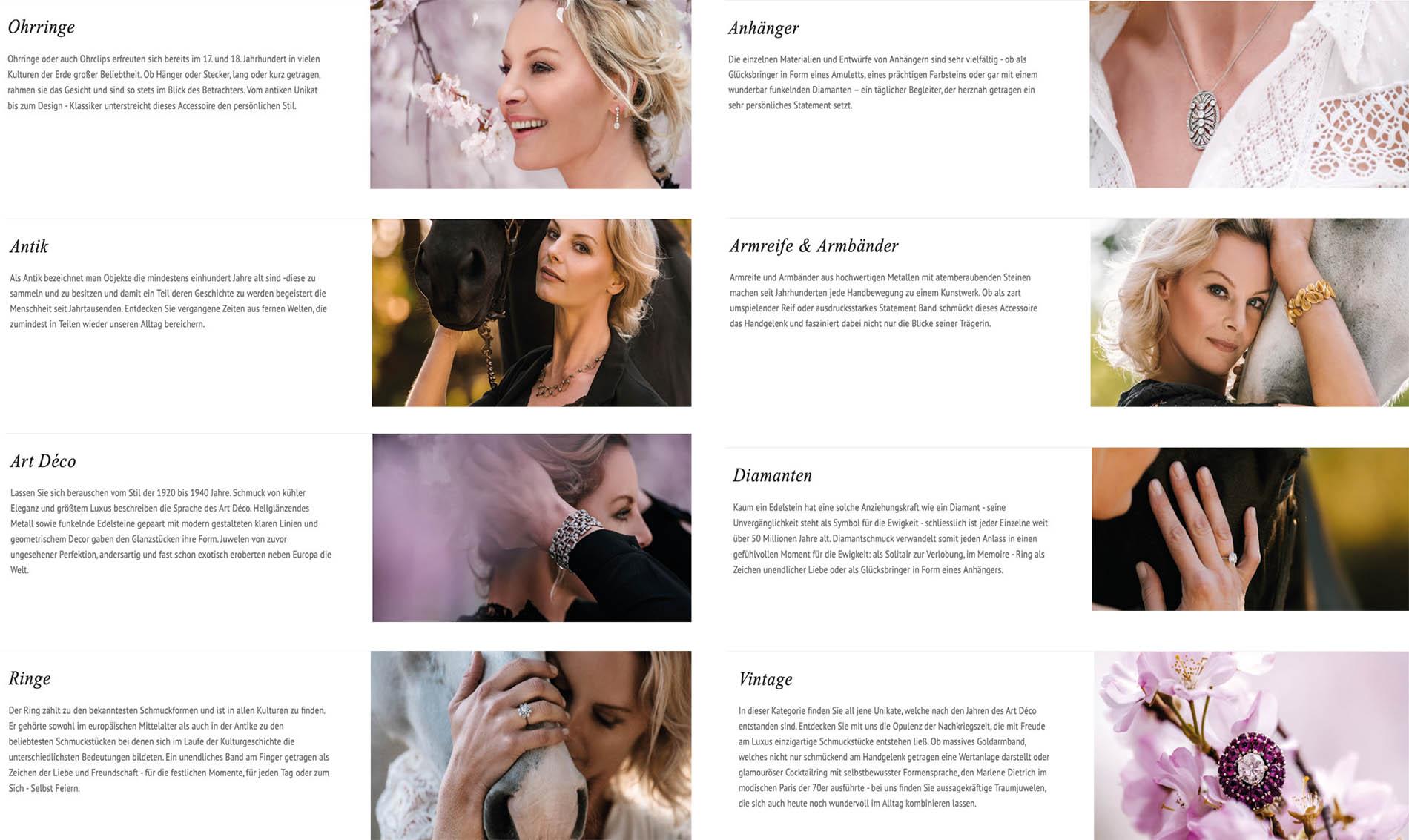 Susanne Steiger - Juwelier Steiger - Webseite - Fotos Alexandra Evang Photographie